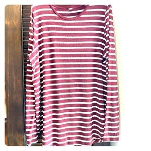 Old Navy TALL XXL Stripe Scalloped Bottom LS shirt